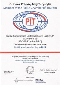 Członek Polskiej Izby Turystyki